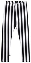 Molo Black and White Niki Vertical Stripe Leggings
