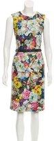 Erdem Floral Print Leather Dress