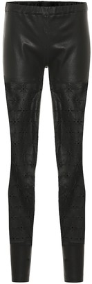 Haider Ackermann High-rise skinny leather pants