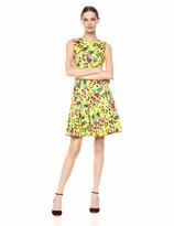 Calvin Klein Women's Sleeveless Printed A Line Dress