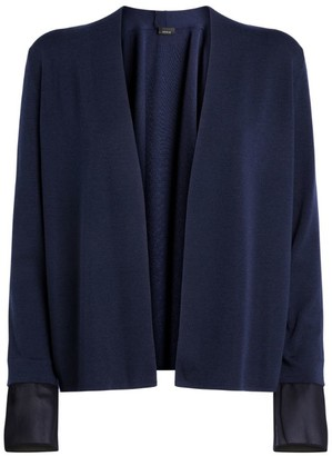 Akris Detachable Silk Cuffs Cardigan