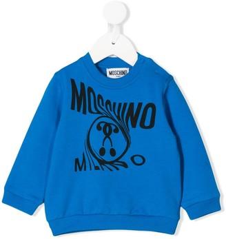 Moschino Kids twisted logo sweater