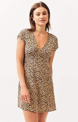 KENDALL + KYLIE Lottie Moss Short Sleeve V-Neck Dress