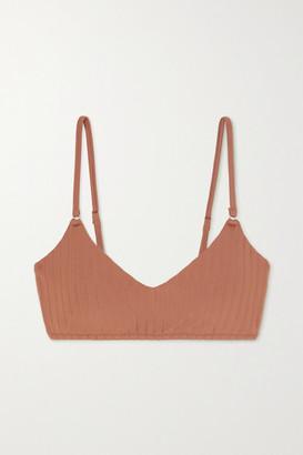 Melissa Odabash Vienna Ribbed Bikini Top - Brown