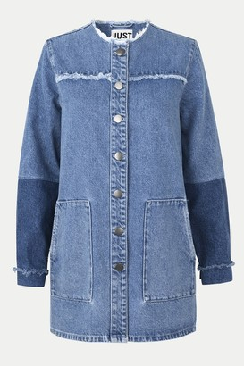 Just Female Blue Denim Norma Jacket - XSMALL