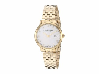 Raymond Weil Women's Toccata Two Tone Swiss Quartz Stainless Steel with Yellow Gold Pvd Plating Strap Multicolor 12.7 Casual Watch (Model: 5985-P-97081)