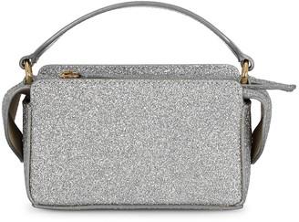 Wandler Yara mini glittered leather top handle bag
