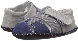 pediped Harvey Originals (Infant) (Grey/Navy) Boy's Shoes