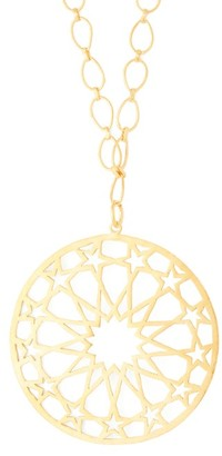 Pippa Small Turquoise Mountain - Tofaan Star 18kt Gold-plated Necklace - Womens - Gold