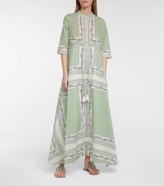 Floral cotton shirt dress