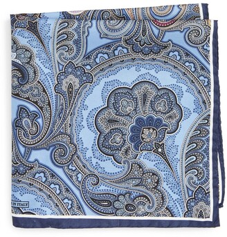Nordstrom Paisley Silk Pocket Square