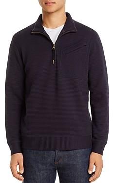 Billy Reid Quilted Half-Zip Sweater