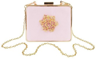 David Charles Satin Rose Clutch Bag