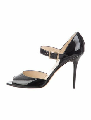 Jimmy Choo Patent Leather Sandals Black