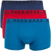 HUGO BOSS Men's 3 Pack Boxers Red/Purple/Blue