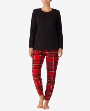 Cuddl Duds Printed Cozy Fleece Pajama Set