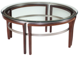 Bassett Mirror Fusions Round Glass Coffee Table