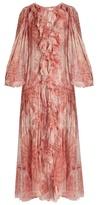 Zimmermann Winsome tie-dye silk-georgette ruffled dress