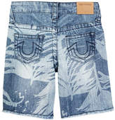 True Religion Palm Tree Denim Short (Toddler & Little Boys)