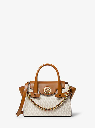 Michael Kors Carmen Extra-Small Logo and Leather Belted Satchel
