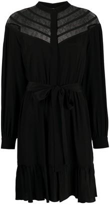 Twin-Set Chevron Lace Shirt Dress