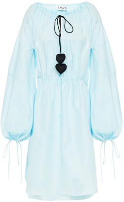 Lanvin Tie-detailed Cotton And Silk-blend Jacquard Dress