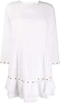 R 13 studded flared short dress