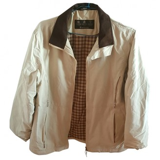 Barbour Green Cotton Leather Jacket for Women