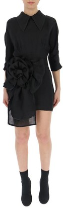 Miu Miu Ruffle-Detail Mini Dress