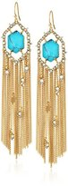 Alexis Bittar Crystal Framed Tassel with Custom Cut Stone Drop Earrings