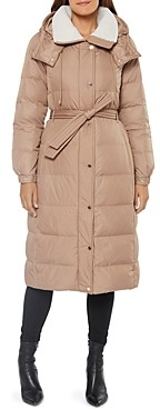 Kate Spade Hooded Belted Puffer Coat