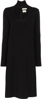 Bottega Veneta High-Neck Midi Dress