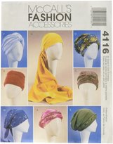Mccall's M4116 Misses' Turban, Headwrap and Caps, All Sizes