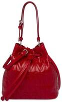 Miu Miu shiny quilted bucket bag