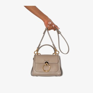 Chloé grey Tess Day small leather shoulder bag