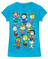 Peanuts Girls' Graphic T-Shirt - Turquoise XS