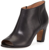 Maison Margiela Open-Toe Leather Bootie, Black