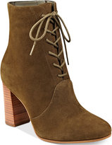 Marc Fisher Edina Block-Heel Lace-Up Ankle Booties