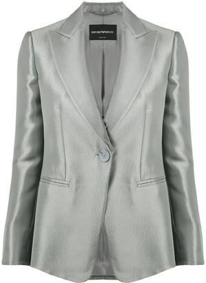 Emporio Armani Metallic One-Button Blazer