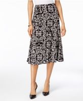 JM Collection Petite Printed Jacquard A-Line Skirt, Only at Macy's