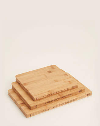 Sabatier 3-Pack Library Bamboo Cutting Board Set