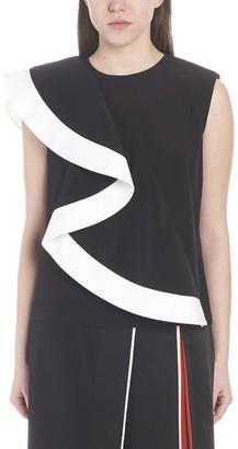 Givenchy Sleeveless Ruffle Top