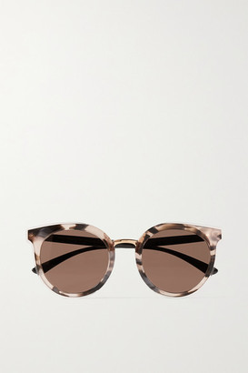 Dolce & Gabbana Round-frame Tortoiseshell Acetate Sunglasses - Pastel pink