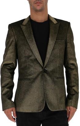 Saint Laurent Single Breasted Metallic Effect Blazer