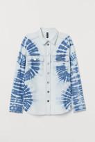 H&M Batik-patterned denim shirt