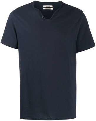 Zadig & Voltaire Monastir Henley-neck T-shirt
