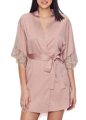 Flora Nikrooz Ada Charmeuse Kimono Robe