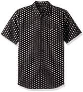 Obey Men's Brighton Woven Short Sleeve Button up Shirt