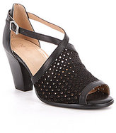 Nurture Wuanita Perforated Suede & Leather Peep Toe Pumps
