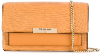 MICHAEL Michael Kors Snakeskin-Effect Leather Shoulder Bag